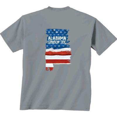 Alabama Patriotic Fill Comfort Colors Tee Shirt