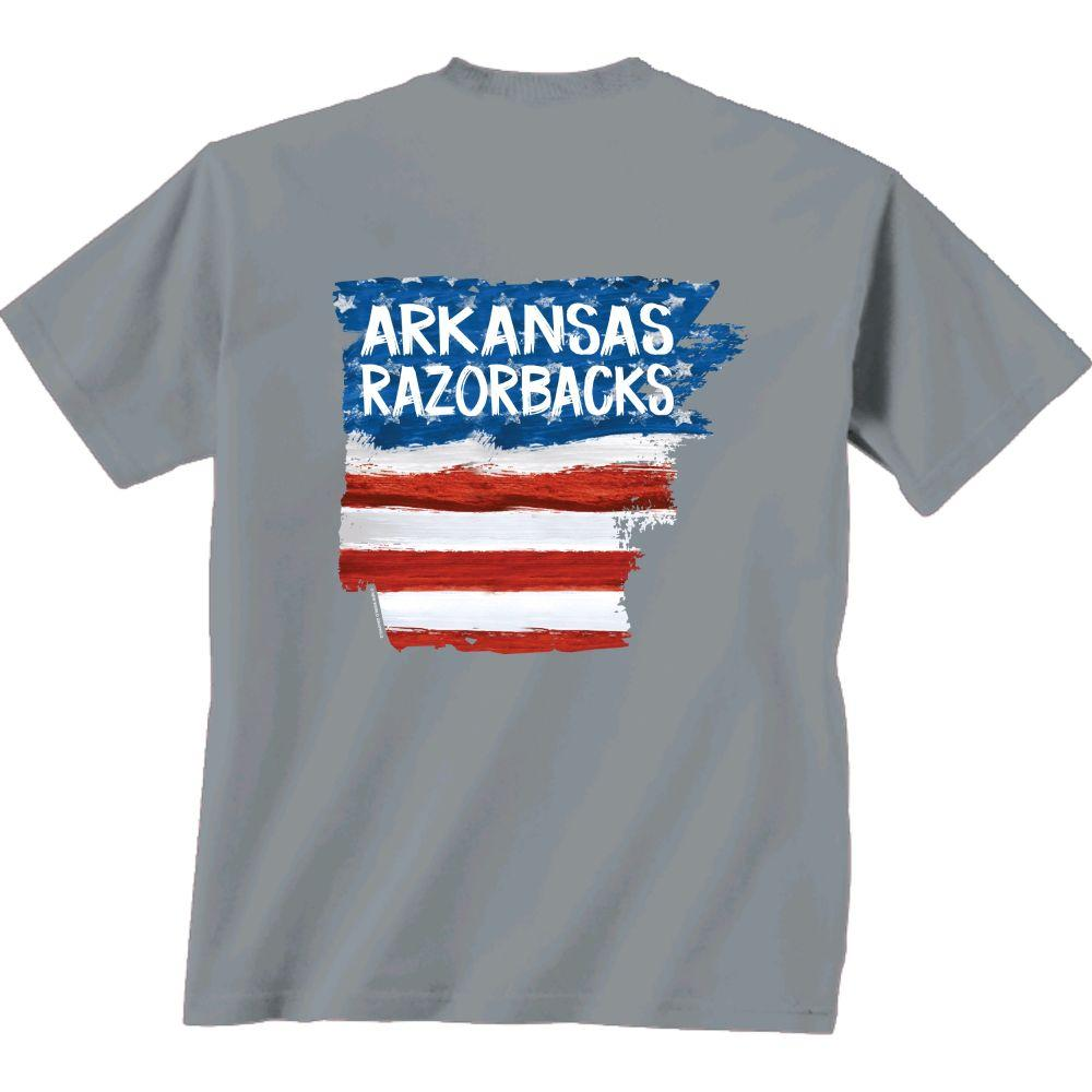 Arkansas Patriotic Fill Comfort Colors Tee Shirt