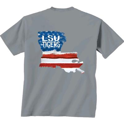 LSU Patriotic Fill Comfort Colors Tee Shirt