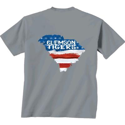 Clemson Patriotic Fill Comfort Colors Tee Shirt