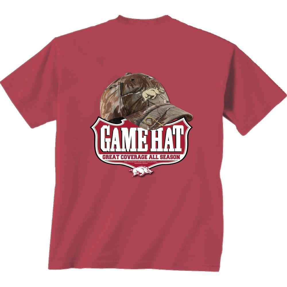 Arkansas Camo Hat Comfort Colors Tee Shirt