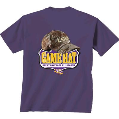 LSU Camo Hat Comfort Colors Tee Shirt