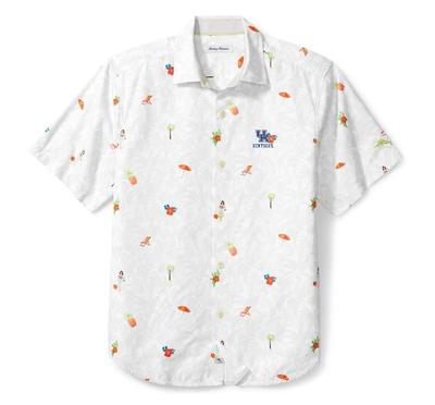 Kentucky Tommy Bahama Beach Cation Printed Camp Shirt