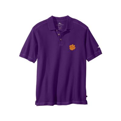 Clemson Tommy Bahama Emfielder Core Polo DEEP_GRAPE