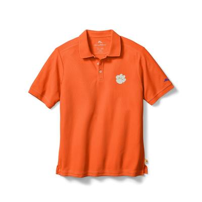 Clemson Tommy Bahama Emfielder Core Polo SPICY_ORG