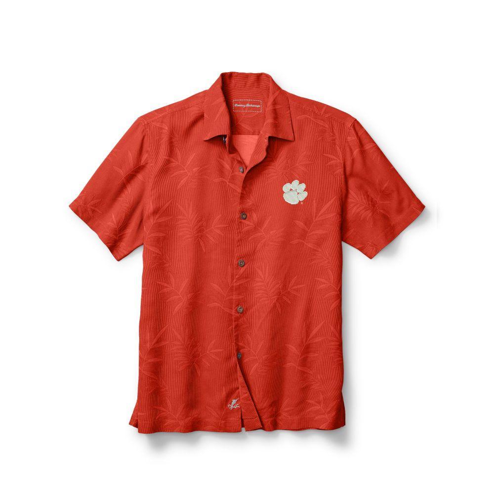 Clemson Tommy Bahama Luau Floral Core Camp Shirt