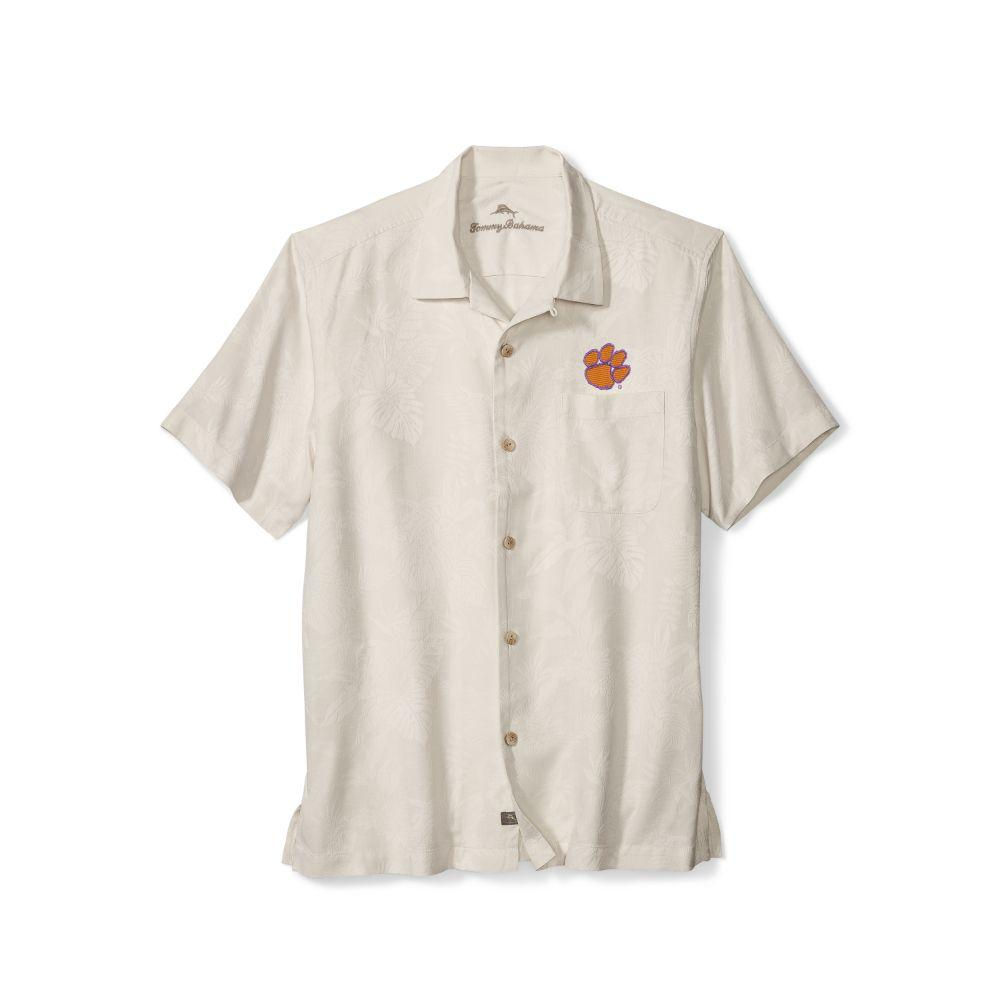 Clemson Tommy Bahama St.Lucia Fronds Camp Shirt