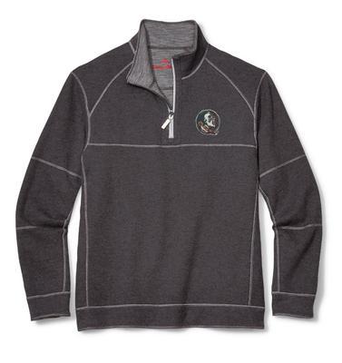 Florida State Tommy Bahama Sandbar Slub Reversible Half-Zip Sweater