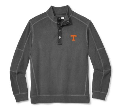 Tennessee Tommy Bahama Fleecebender Snap Collar Sweatshirt