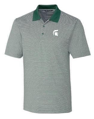 Michigan State Cutter & Buck Tonal Stripe Forge Polo