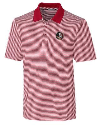 Florida State Cutter And Buck Tonal Stripe Forge Polo