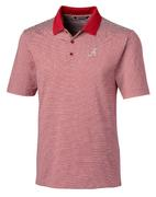 Alabama Cutter And Buck Tonal Stripe Forge Polo
