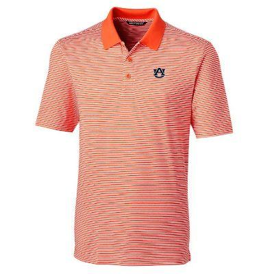 Auburn Cutter and Buck Tonal Stripe Forge Polo