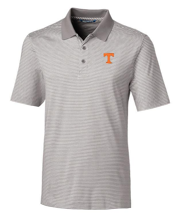 Tennessee Cutter And Buck Tonal Stripe Forge Polo