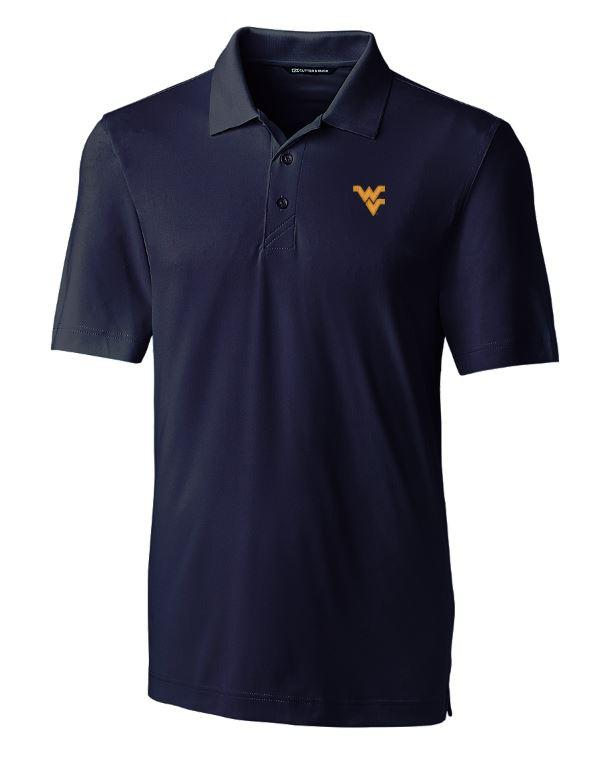 West Virginia Cutter And Buck Drytec Forge Polo