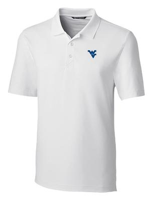 West Virginia Cutter And Buck DryTec Forge Polo WHITE