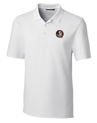 Florida State Cutter And Buck DryTec Forge Polo WHITE