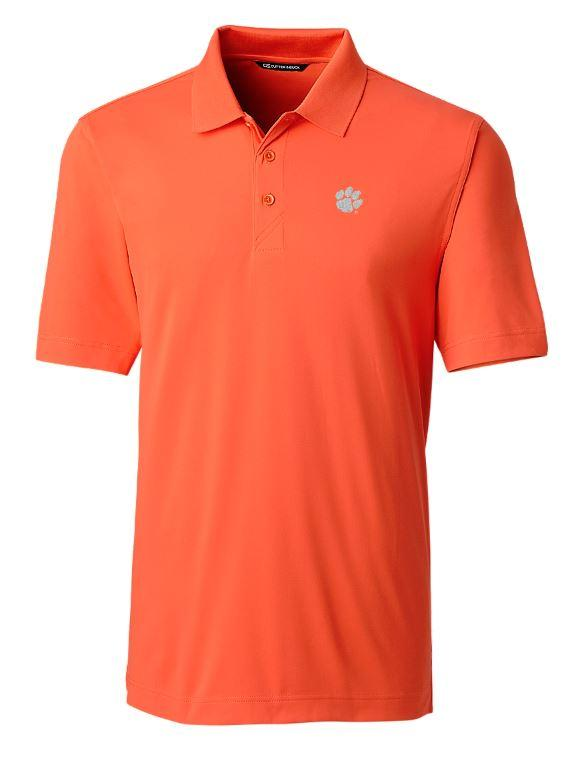 Clemson Cutter And Buck Drytec Forge Polo