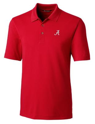Alabama Cutter And Buck DryTec Forge Polo CARD_RED