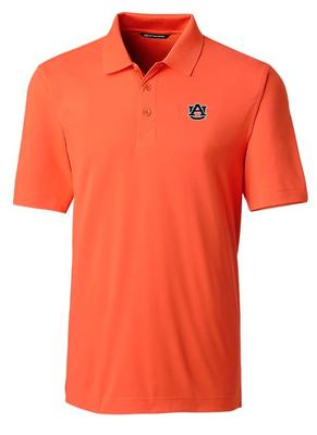 Auburn Cutter And Buck DryTec Forge Polo ORANGE