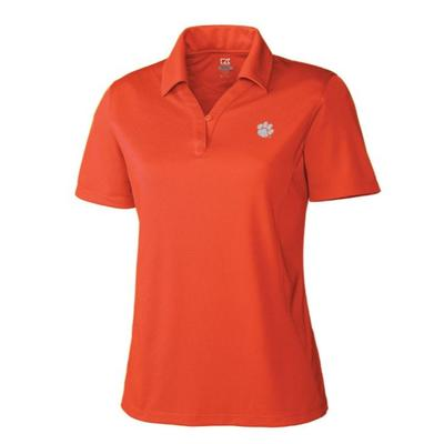 Clemson Cutter and Buck Women's DryTec Genre Polo