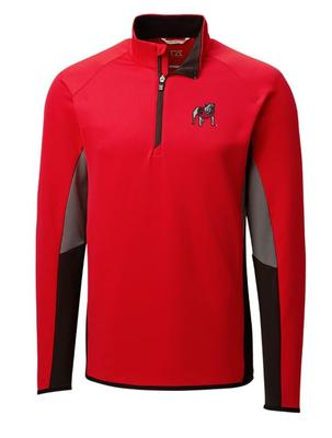 Georgia Cutter and Buck Traverse Colorblock Half Zip Pullover