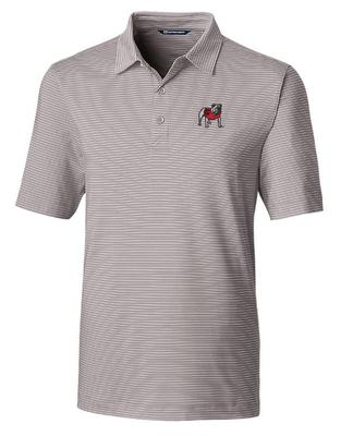 Georgia Cutter And Buck DryTec Pencil Stripe Forge Polo POLISHED