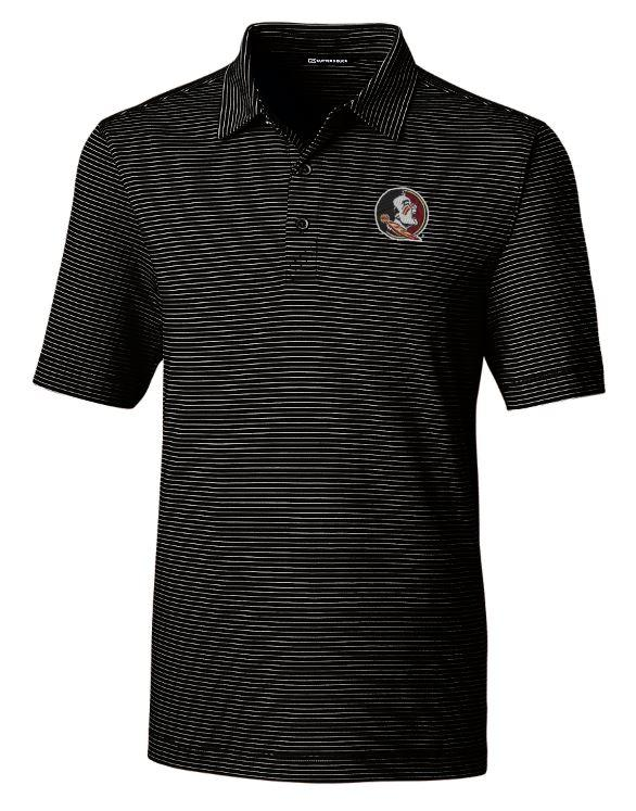 Florida State Cutter And Buck Drytec Pencil Stripe Forge Polo