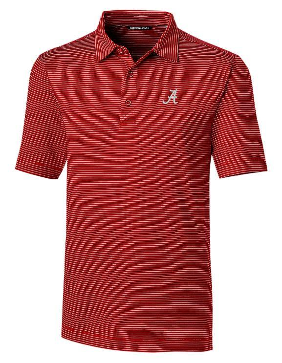 Alabama Cutter And Buck Drytec Pencil Stripe Forge Polo