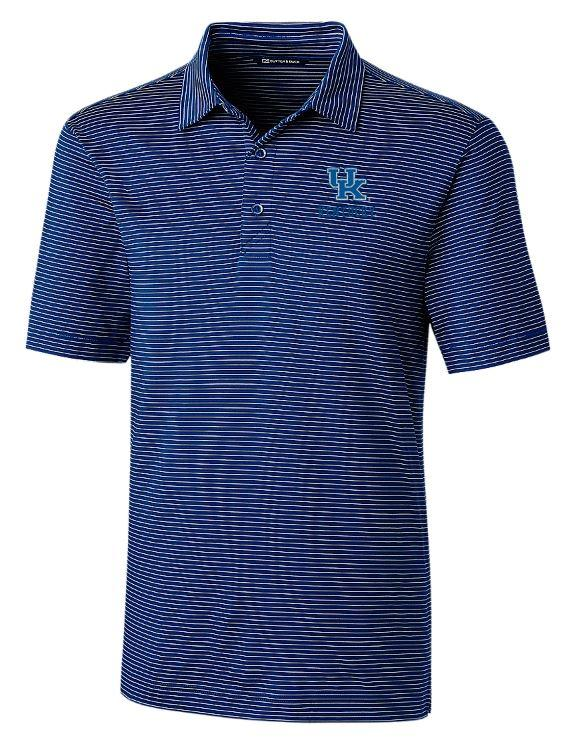 Kentucky Cutter And Buck Drytec Pencil Stripe Forge Polo