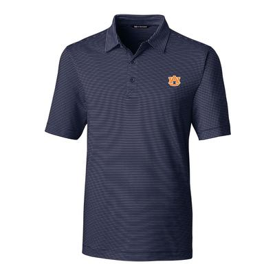 Auburn Cutter And Buck DryTec Pencil Stripe Forge Polo