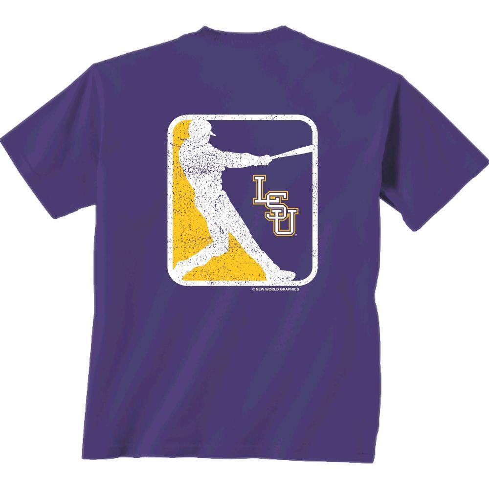 Lsu Vintage Baseball Comfort Colors T- Shirt