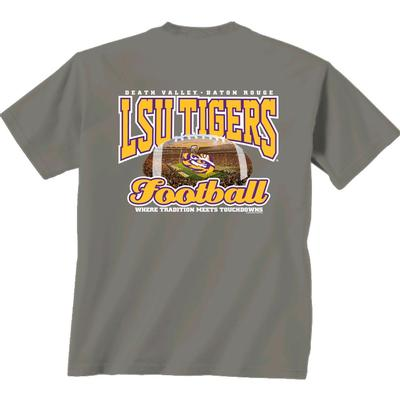 LSU Tigers Football Stadium Comfort Colors Tee
