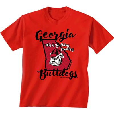 Georgia Bulldogs Ladies Script Short Sleeve Tee