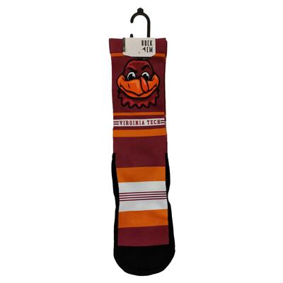 Virginia Tech Rock 'Em Hokiebird Striped Socks