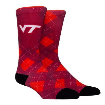 Virginia Tech Rock 'Em Hyperoptic Argyle Socks