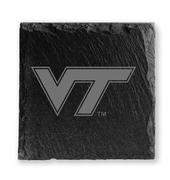 Virginia Tech Timeless Etchings Slate Coaster Set