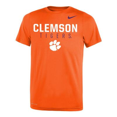 Clemson Nike Youth Legend DriFit 2.0 Tee