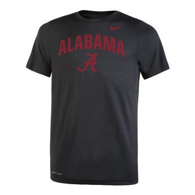 Alabama Nike Youth Legend DriFit 2.0 Tee BLACK