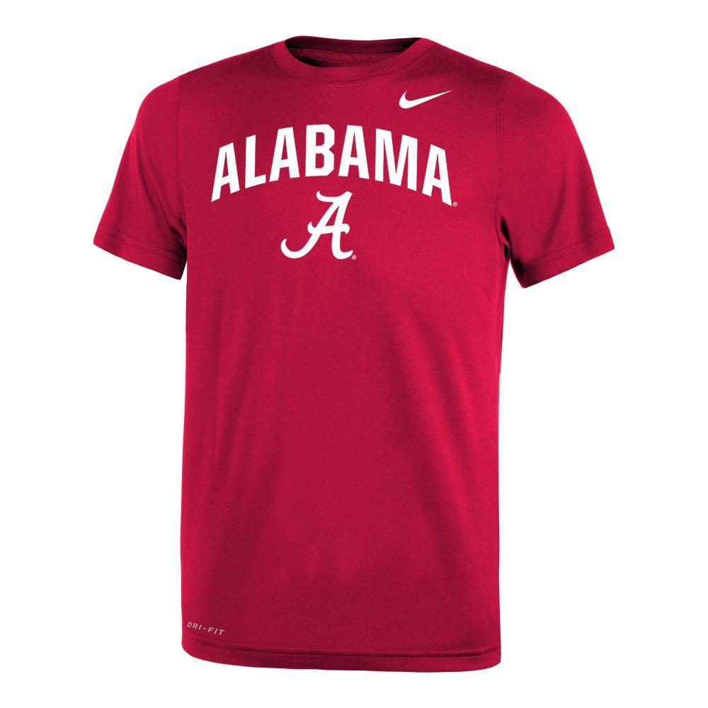 Alabama Nike Youth Legend Drifit 2.0 Tee