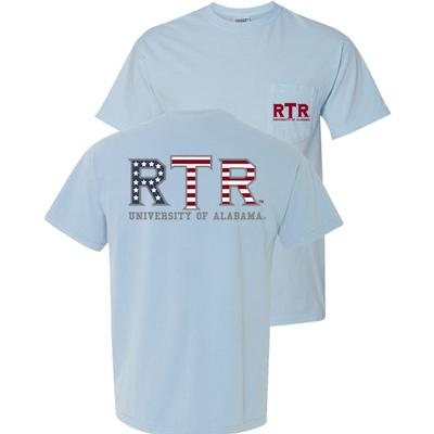 Alabama Roll Tide Roll Americana Comfort Colors Tee
