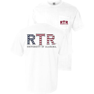 Alabama Roll Tide Roll Americana Comfort Colors Tee WHITE