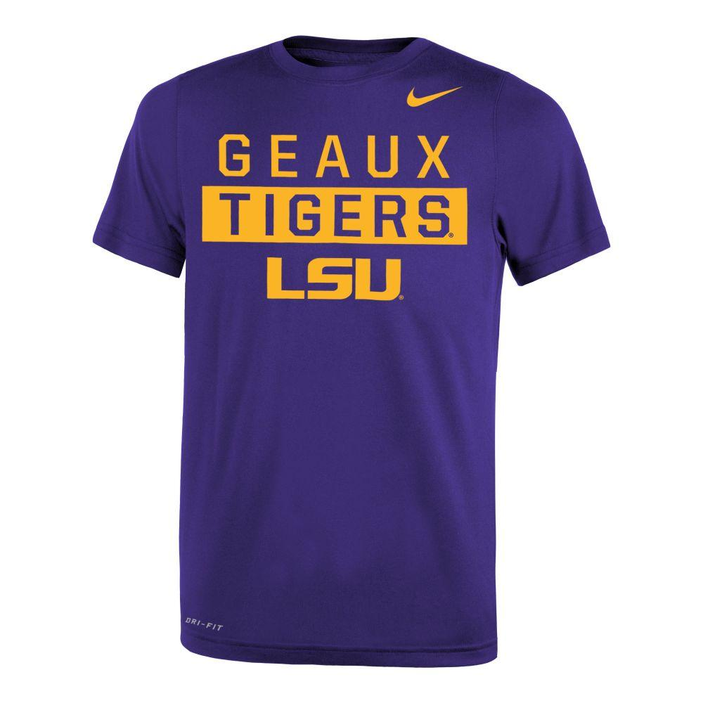 Lsu Nike Youth Legend Drifit 2.0 Tee