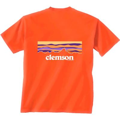 Clemson Piedmont Sunset Short Sleeve Tee ORANGE