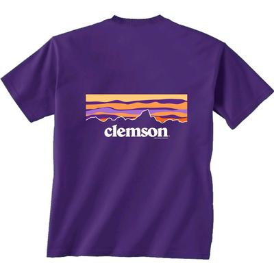 Clemson Piedmont Sunset Short Sleeve Tee PURPLE