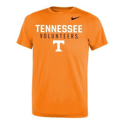 Tennessee Nike Youth Legend DriFit 2.0 Tee TN_ORG