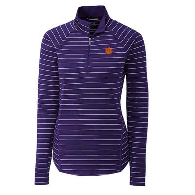 Clemson Cutter & Buck Long Sleeve Evie 1/2 Zip Pullover