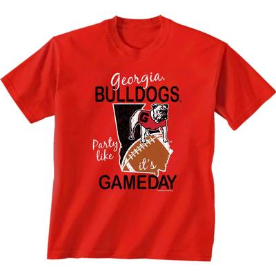Georgia Women's Party Like It's Game Day Tee