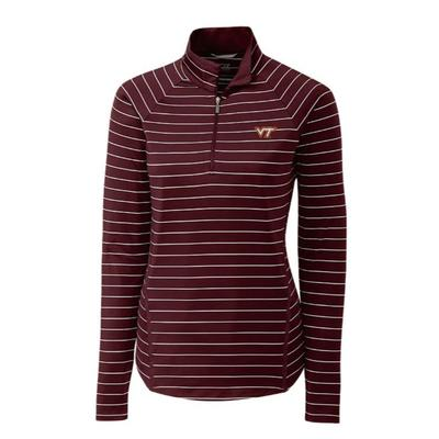 Virginia Tech Cutter & Buck Long Sleeve Evie 1/2 Zip Pullover