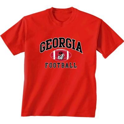 Georgia Bulldogs Arch Football Youth Tee